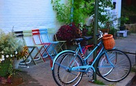 bicycles at Garnett's Cafe